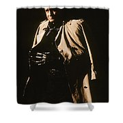 Johnny Cash Trench Coat  Sepia Variation Old Tucson Arizona 1971 Shower Curtain