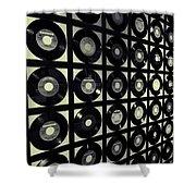 Johnny Cash Vinyl Records Shower Curtain