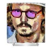 Johnny Depp Actor Shower Curtain