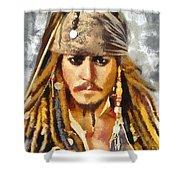 Johnny Depp Jack Sparrow Actor Shower Curtain