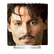 Johnny Depp Portrait Shower Curtain