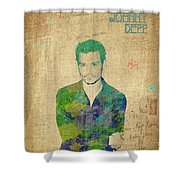 Johnny Depp Watercolor Shower Curtain