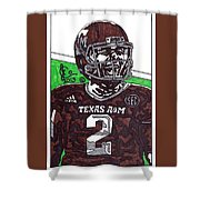 Johnny Manziel 6 Shower Curtain by Jeremiah Colley