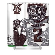 Johnny Manziel 9 Shower Curtain by Jeremiah Colley