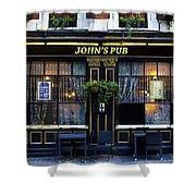 John''s Pub Shower Curtain