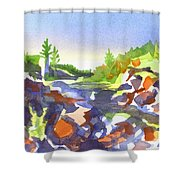 Johnsons Shut Ins Shower Curtain