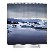 Jokulsarlon Shower Curtain