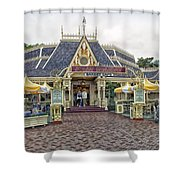 Jolly Holiday Cafe Main Street Disneyland 01 Shower Curtain