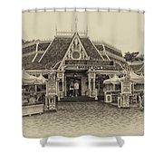 Jolly Holiday Cafe Main Street Disneyland Heirloom Shower Curtain