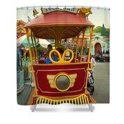Jolly Trolley Disneyland Toon Town Shower Curtain