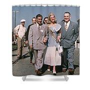 Jone Ann Pedersen Miss California June 1949 Shower Curtain