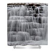 Jones Mill Run Dam Up Close 2 Shower Curtain