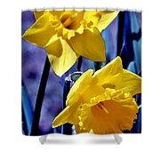 Jonquil Watercolor Shower Curtain