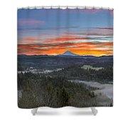 Jonsrud Viewpoint Sunrise Shower Curtain