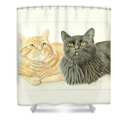 Jonzy And Black Shower Curtain