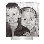 Jordan And Chey Chey Shower Curtain