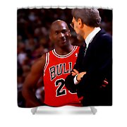Jordan And Coach Shower Curtain