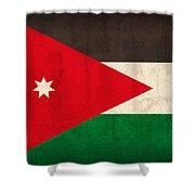 Jordan Flag Vintage Distressed Finish Shower Curtain