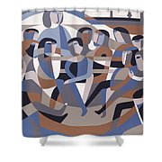 Jordan Quaker Meeting 2 Shower Curtain by Ron Waddams