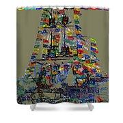 Jose Gaspar Ship Vertical Work Shower Curtain