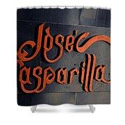 Jose Gasparilla Name Plate Color Shower Curtain