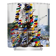 Jose Gasparilla Ship Work A Shower Curtain