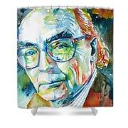 Jose Saramago Portrait Shower Curtain