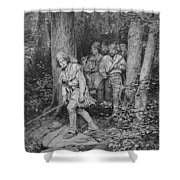 Joseph Brown Leading His Company To Nicojack, The Stronghold Of The Chickamaugas, Engraved Shower Curtain
