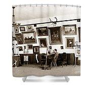 Joseph Kurtz Oliver Artist In His Studio Monterey Circa 1905 Shower Curtain