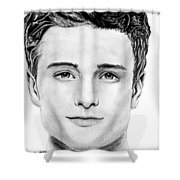 Josh Hutcherson Shower Curtain
