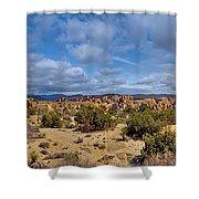 Joshua Tree National Park Indian Cove Rocks Shower Curtain