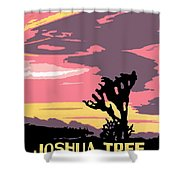 Joshua Tree National Park Vintage Poster Shower Curtain