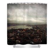 jour de pluie a Istanbul III Shower Curtain