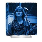 Journey #2 Enhanced In Blue Shower Curtain