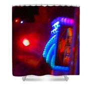 Journey Of The Deep Space Robot Shower Curtain