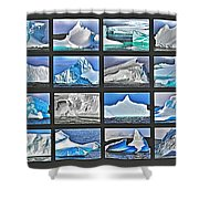 Journey's End For Vanishing Icebergs Assemblage In Saint Anthony-newfoundland  Shower Curtain