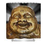 Jovial Buddha Shower Curtain