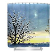Joy Love Peace Health Happiness Shower Curtain