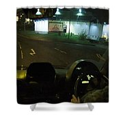 Joy Ride At Mid Night In Paris View From Rear   Of Limo Shower Curtain