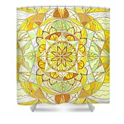 Joy Shower Curtain by Teal Eye  Print Store