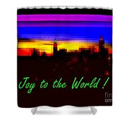 Joy To The World - Empire State Christmas And Holiday Card Shower Curtain