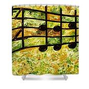 Joyful - Lemon Lime Shower Curtain