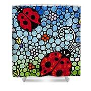 Joyous Ladies Ladybugs Shower Curtain