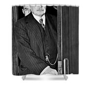 J.p. Morgan At S.e.c. Shower Curtain by Underwood Archives