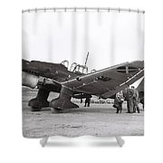 Junkers Ju87b Legion Condor Shower Curtain