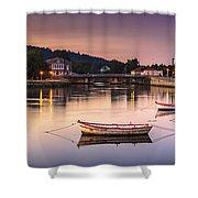 Jubia River Panorama Neda Naron Galicia Spain Shower Curtain