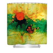 Jubilee - Abstract Art By Sharon Cummings Shower Curtain