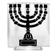 Judaism Candelabra Shower Curtain