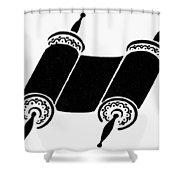 Judaism Torah Shower Curtain