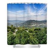 Judean Foothills Landscape Shower Curtain